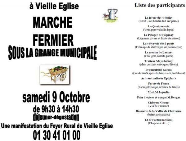 Marché fermier de Vieille-Eglise du 09/10/2010