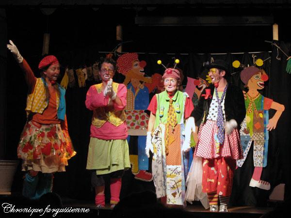 Coquillette, Ping-Pong, Georges Clownette et Mascarpone
