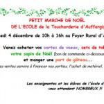 Ecole de la Toucharderie, marché de Noël