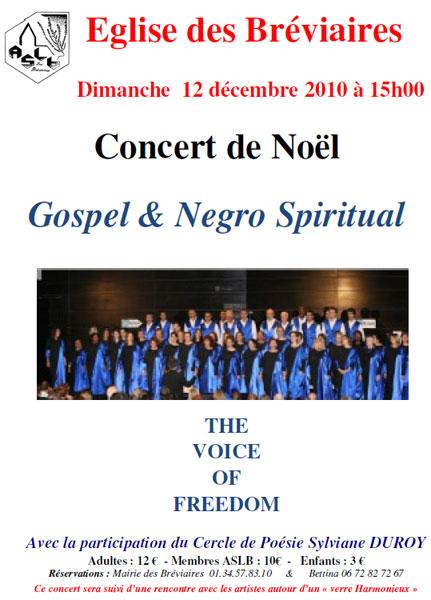 Concert de Noël (2010) aux Bréviaires