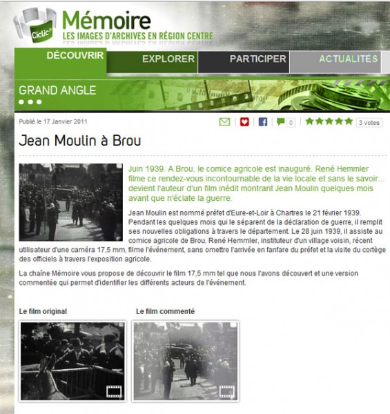 Mémoire, Jean Moulin