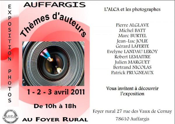 1, 2, 3 avril : expo photo d'Auffargis
