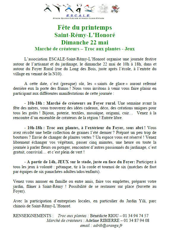 Fête du Printemps Saint-Rémy l'Honoré