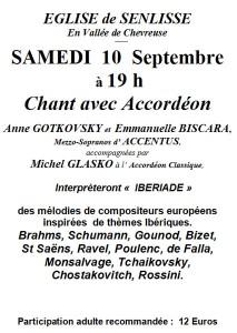 Concert Senlisse 10 septembre