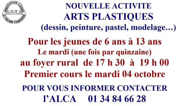 Arts plastiques 6-13 ans ALCA 2011 2012