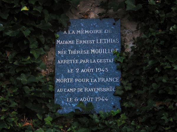 A la mémoire de Thérèse Lethias