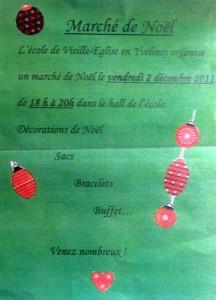 Marché de Noël, école primaire de Vieille-Eglise