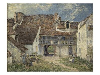 alfred-sisley-cour-de-ferme-a-saint-mammes-seine-et-marne