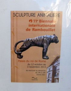 11e biennale de la sculpture animalière, Rambouillet