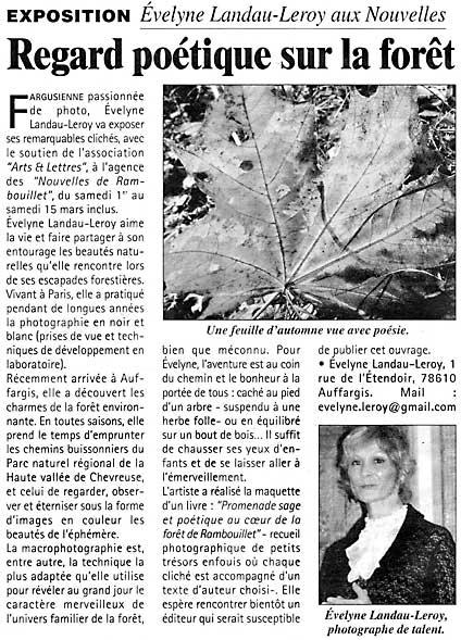 Evelyne Leroy à Rambouillet