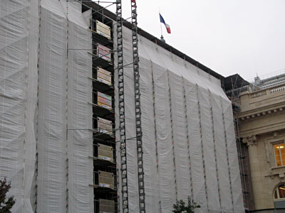 Grand Palais, fin octobre 2007, manteau d'hiver