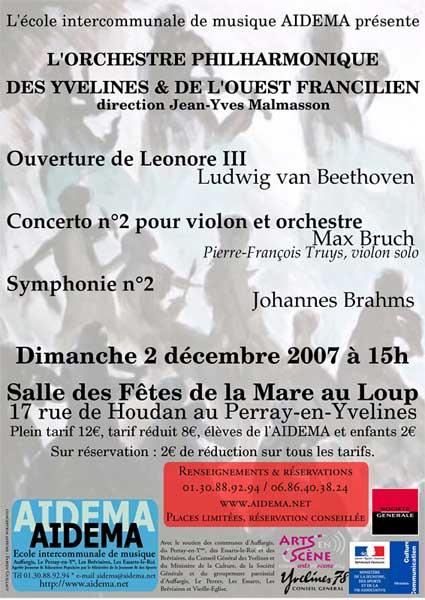 Concert AIDEMA 2 décembre 2007